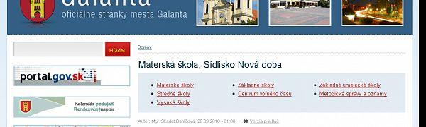 Materská škola Nová Doba Galanta